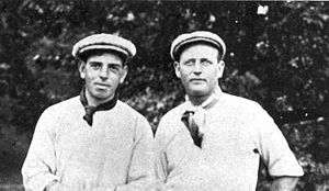 Willie Anderson (golfer) - Willie Anderson (left) with Alex Smith, whom he beat in a playoff to win in 1901