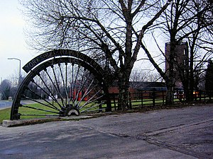 Edlington - Image: Winding wheel from Yorkshire Main Colliery 1911 to 1985 geograph.org.uk 637011