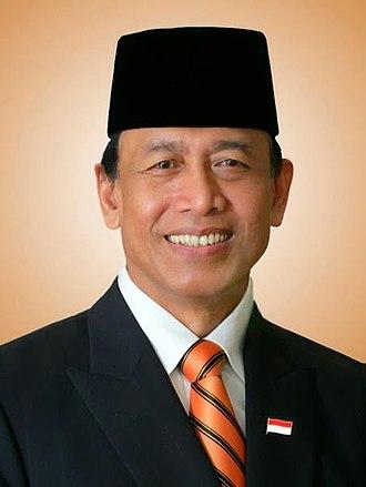 Cabinet of Indonesia - Image: Wiranto 2