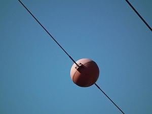 Overhead wire marker - Image: Wire marker