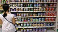Woman shopping for infant formula in a supermarket, Singapore - 20131102.jpg