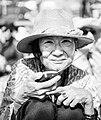 Woman with a hat, Kalachakra 2014 (14515217209).jpg