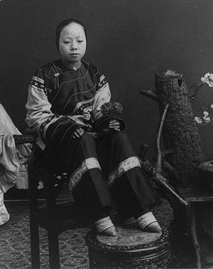 """A """"lily footed"""" woman of China."""
