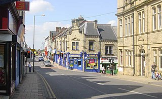 Wombwell Town in South Yorkshire, England