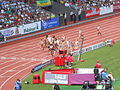 Women's 4 × 400 m relay Zürich 2014.JPG