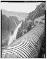 Wood stave pipe on wood cradle east of tunnel no. 7 - Ogden Canyon Conduit, Ogden, Weber County, UT HAER UTAH,29-OGCA,2-12.tif