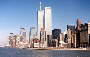 World trade center new york city from hudson c...