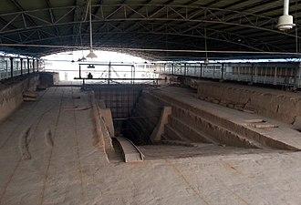Cao Cao Mausoleum - Excavated entrance to the Xigaoxue Tomb No. 2.