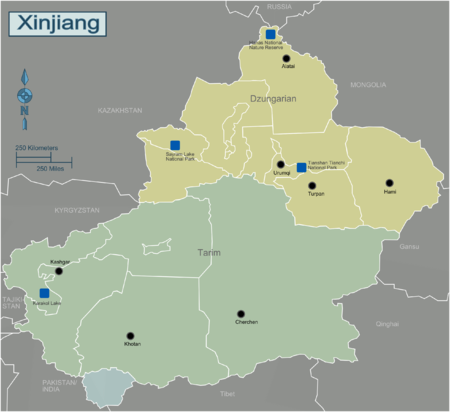 Regions of Xinjiang