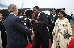 Yayi Boni with George Bush February 16, 2008.jpg