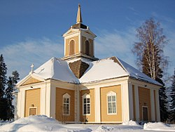 Ylikiiminki Church, built in 1786.