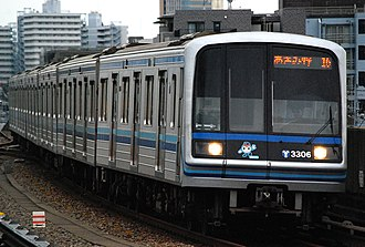Yokohama Municipal Subway Blue Line - Image: Yokohama city subway 3000Akei