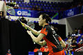 Yonex IFB 2013 - Quarterfinal - Tian Qing - Zhao Yunlei vs Misaki Matsutomo - Ayaka Takahashi 15.jpg