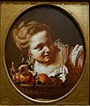 Young Girl with a Basket of Apples, by Giovanni Battista Piazzetta, Venice, 1740s, oil on canvas - Blanton Museum of Art - Austin, Texas - DSC08076.jpg