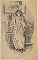 Young Woman Leaning against a Low Cabinet in Artist's Studio MET DP804089.jpg