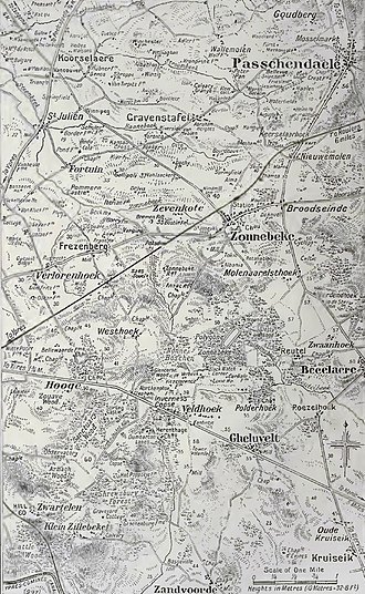 Battle of Poelcappelle - Image: Ypres area, Autumn, 1917