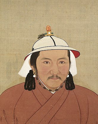 Jayaatu Khan Tugh Temür - Portrait of Jayaatu Khan Tugh Temur (Emperor Wengzong) during the Yuan era.
