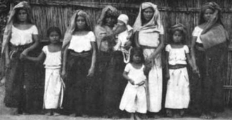 Zapotec peoples - Picture of Zapotec women and children from 1908