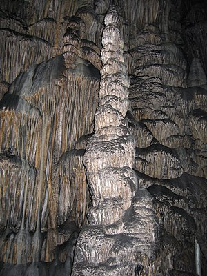 Psychro Cave - Stalagmite in the cave