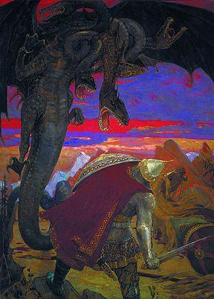 Slavic dragon - Zmey Gorynych, by Viktor Vasnetsov