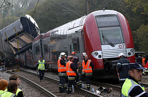 Zoufftgen train collision - Aftermath of the accident