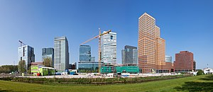 A panorama of the Zuidas business district in ...
