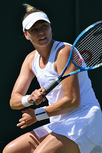 Vera Zvonareva - Zvonareva at the 2018 Wimbledon Championships