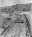 """Salt River - Power Canal Diversion Dam - View from left abutment - apron completed through Panel J, except for... - NARA - 294596.tif"