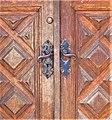 Årsta slott, huvudbyggnaden, ekdörr, detalj med dörrhandtag, 2016b.jpg
