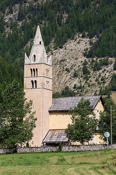 Français:  Église Saint-Laurent d'Arvieux (France).