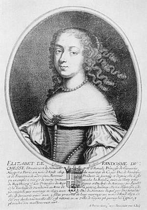 Duke of Nemours - Image: Élisabeth de Bourbon (1614 1664), Dowager Duchess of Nemours