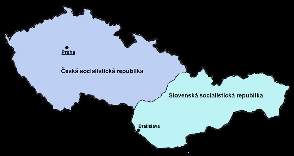 ČSSR-mapa