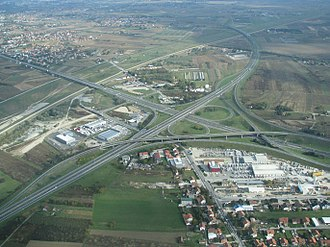 European route E71 - Lučko interchange, carrying the E71 near Zagreb