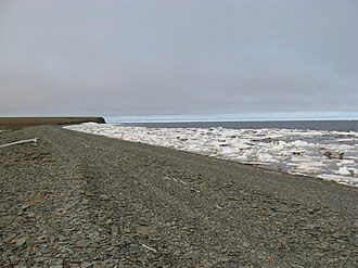 Laptev Sea - The shore of the Anabar Bay.