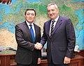 Аскар Мамин с заместителем председателя правительства России Дмитрием Рогозиным.jpg