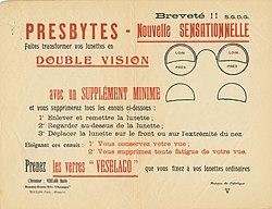 Publicité pour les lunettes bifocales Veselago. 550d5ad3ad1c