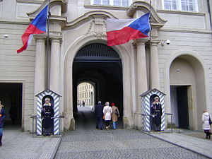 President of the Czech Republic - Entrance to the residence of the President of the Czech Republic, Prague Castle.