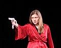 Мария Голубкина на сцене Драмтеатра города Северодвинска 25 февраля 2011 года.JPG