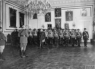 Afrikan P. Bogaewsky - Presentation of an award to General Bogaevsky in Novocherkassk, July 1919