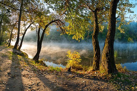 National Landscape Park «Svyati Gory». Natural heritage site in Ukraine