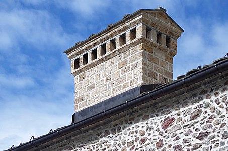 Chimney of the konaks in the Bigorski Monastery, Macedonia