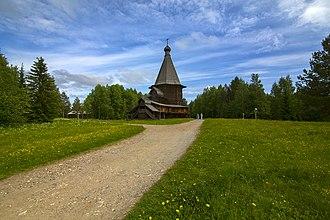 Primorsky District, Arkhangelsk Oblast - St. George Church from Vershiny (Malye Korely), Primorsky District