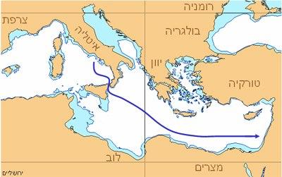 אוניית המעפילים ירושלים הנצורה - מסלול