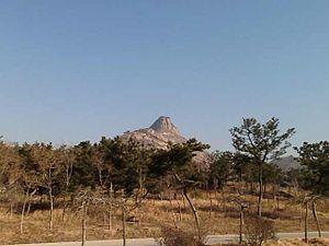Rushan, Shandong - Looking eastward to Rushan (Mamma Mount)