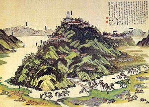 Azuchi Castle - Azuchi-jō-zu, a drawing of the castle