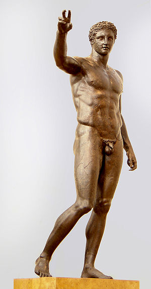 Antikythera - Antikythera Ephebe; bronze c. 340–330 BC, National Archaeological Museum of Athens