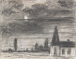 Church in the moonlight