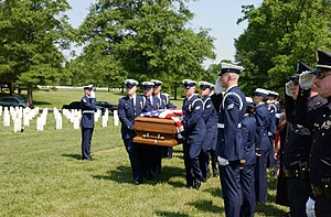 Nathan Bruckenthal - Pallbearers carry Bruckenthal's casket during his funeral at Arlington National Cemetery in May 2004.