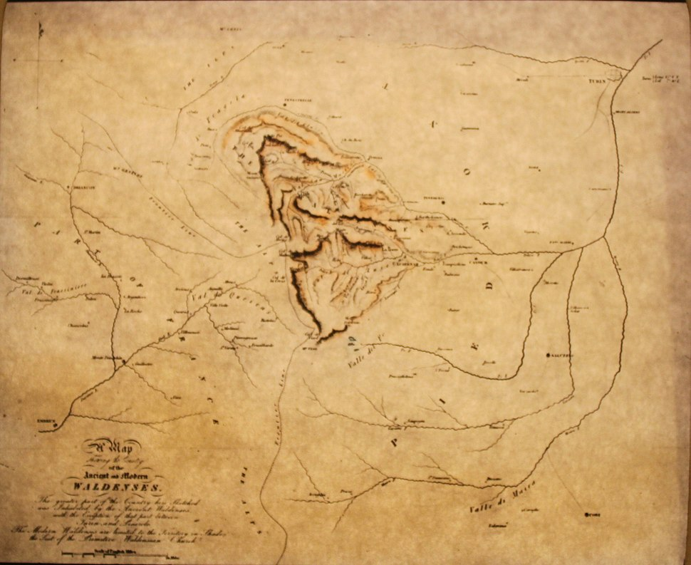 10415 - Waldensian - Map showing the location of the Waldensian Valley