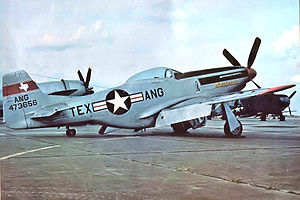 Texas Air National Guard - Texas Air National Guard North American F-51D Mustang 44-73656, Ellington Field, Houston, 1948